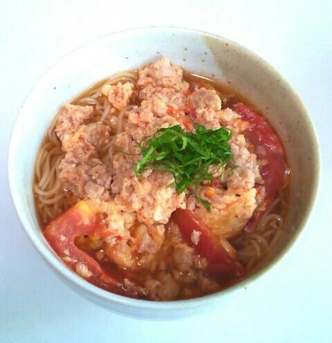 トマトのスタミナ素麺